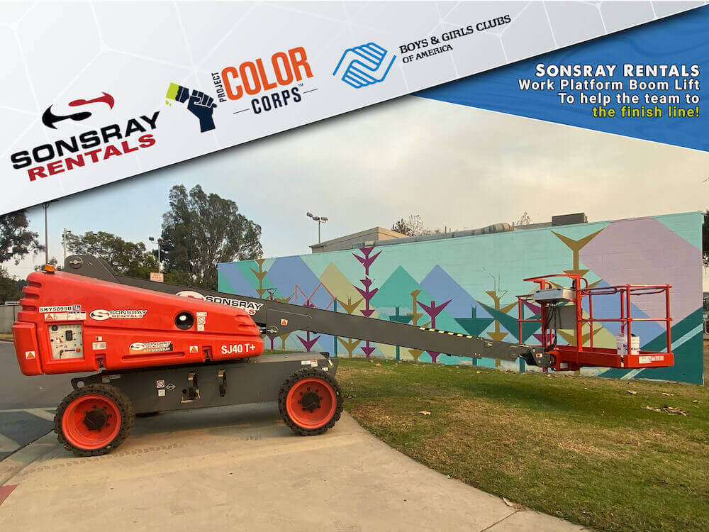 Sonsray Rentals Donates Work Platform to Project Color Corps